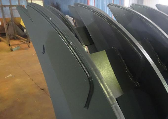 Hyundai Excavator Bucket Attachments With 8 Ribs / Long Shank