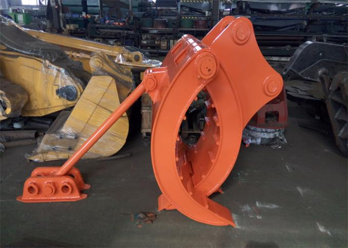 Mechanical Type Heavy Duty Rock Grapples For Excavators Hitachi ZX330