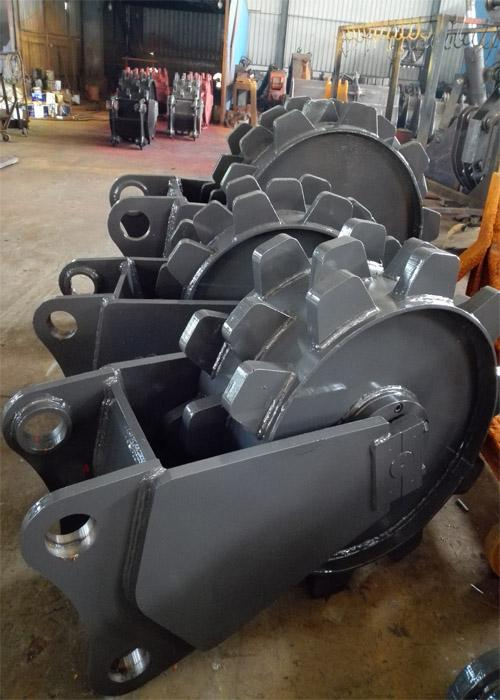 900mm Diameter Excavator Compaction Wheel For Excavator Machine