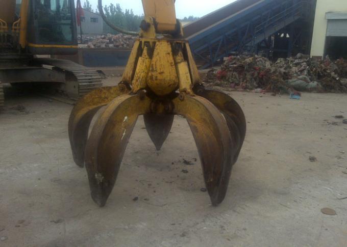 No Rotate Hydraulic Orange Peel Grab Bucket for CAT320 Excavator