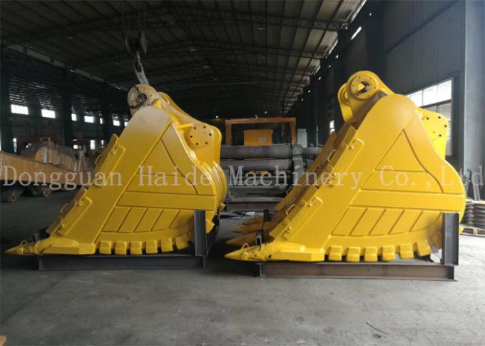 2100 Mm Width Heavy Duty Rock Bucket For Hitachi Excavator EX1200 With 5.0cbm