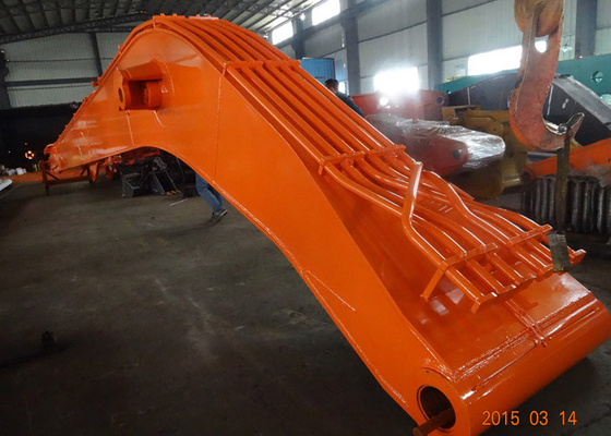 China Heavy Duty Komatsu Excavator Long Boom , Orange High Reach Arm supplier