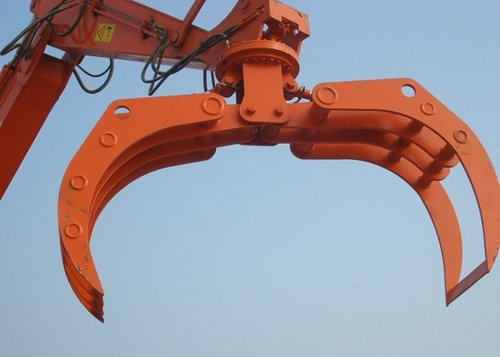 China High Efficiency Rotating Excavator Bucket Tractor Grapple Attachment supplier