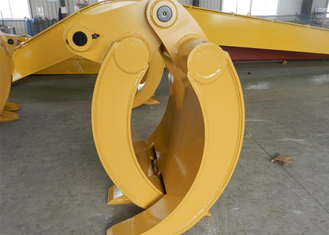 China Wearable Steel Mechanical Excavator Grapple Bucket with Rod supplier