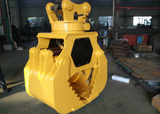 China Customized Hydraulic Worm Excavator Rotating Grapple Q345B + Hardox supplier