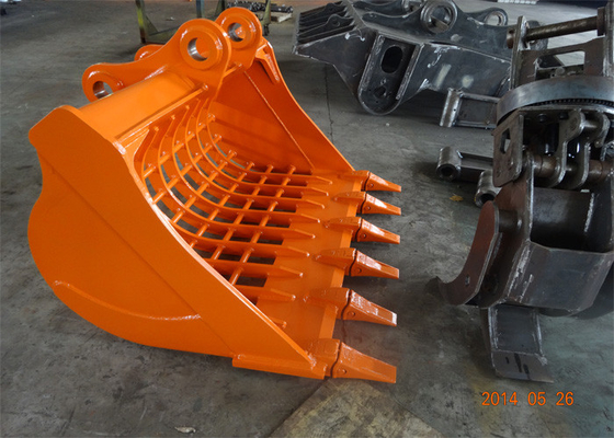 Hitachi ZX200-3 Excavator Skeleton Bucket , Rock Skeleton Bucket