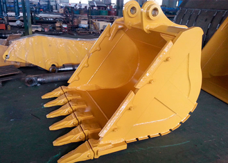 China Wheeled Extension CAT336 Excavator V Ditching Bucket With 6 Teeth supplier