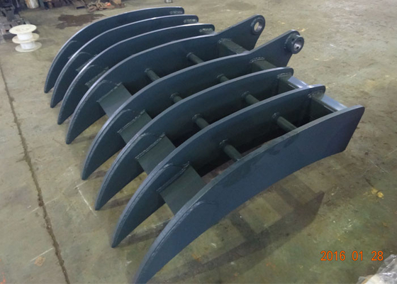 China Hyundai Excavator Bucket Attachments With 8 Ribs / Long Shank supplier