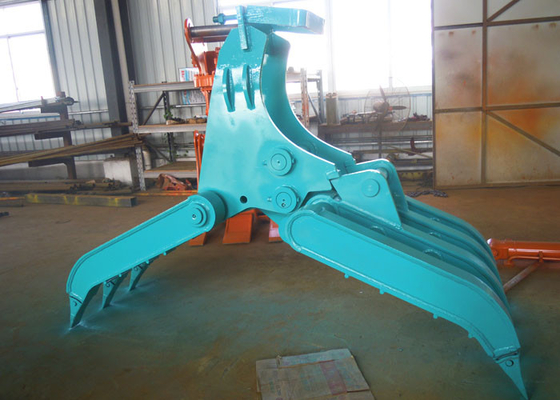 China Wide Design Mechanical Grapple / Grab for Kobelco SK200 Excavator supplier