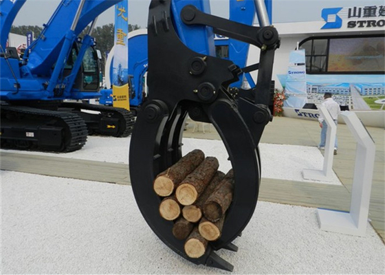 China Hyundai Excavator Mechanical Wood Grapple /  Wood Grab For Excavator supplier