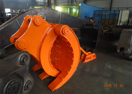 China Mechanical Type Heavy Duty Rock Grapples For Excavators Hitachi ZX330 supplier