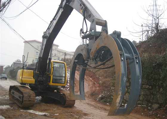 China Long Durability Logging Grapple Excavator Log Grab Electric Hydraulic Grab supplier