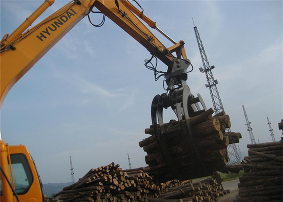 China 360 Degree Rotating Wood Grapple Attachment For Excavator Komatsu PC200 supplier