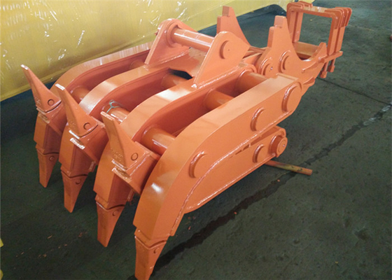 China Seven Tooth Rotate Wood Grapple / Timber Grapple for Hitachi EX230 Excavator supplier