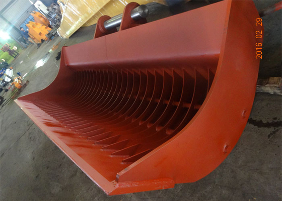 China Heavy Duty Dredging Sea Excavator Sieve Bucket Capacity 3.7 Cum supplier