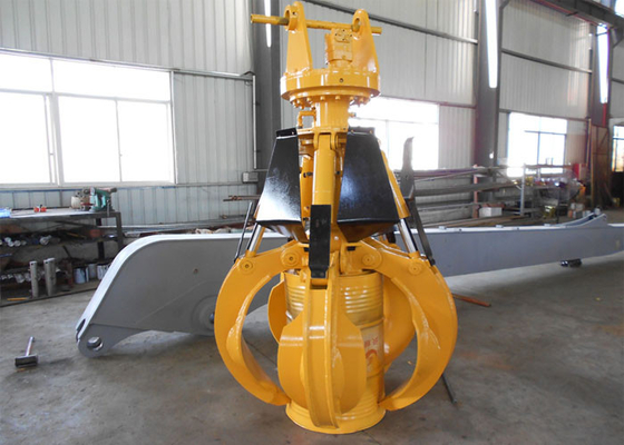 China Light Weight Komatsu Orange Peel Grab / Excavator Rotating Grapple supplier