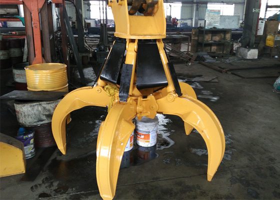 China Rotate Hydraulic Orange Peel Grapple for PC220 Excavator Attachment supplier