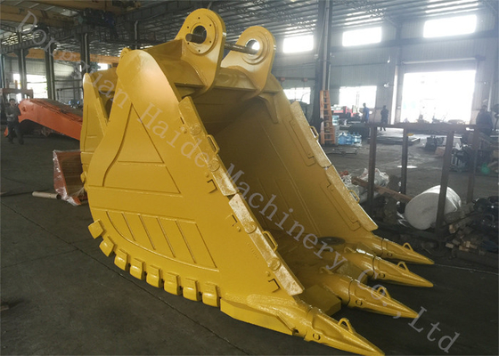 China Yellow Mining Excavator Rock Bucket Deepth 1380mm With Hardox Material supplier