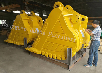 China 2100 Mm Width Heavy Duty Rock Bucket For Hitachi Excavator EX1200 With 5.0cbm supplier