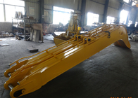 China Yellow Excavator Long Reach Boom for Komatsu PC240 Total 18 Meters Length factory
