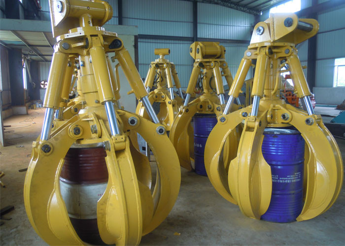 Hydraulic Boom Joint : Special joint hydraulic orange peel grabs for hyundai r