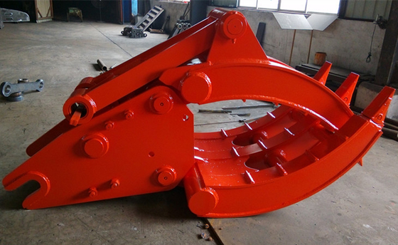 China Heavy Duty Doosan 500 Excavator Grapple , Mechanical Grapple 2400kg distributor