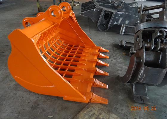 China Hitachi ZX200-3 Excavator Skeleton Bucket , Rock Skeleton Bucket distributor
