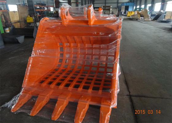 China Long Durability Hardox450 Skeleton Rock Bucket for Hitachi ZX350 Excavator distributor
