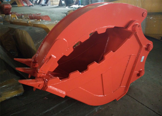 China Excavator Grapple Hydraulic Bucket Thumb Grapple With Grating Bucket distributor