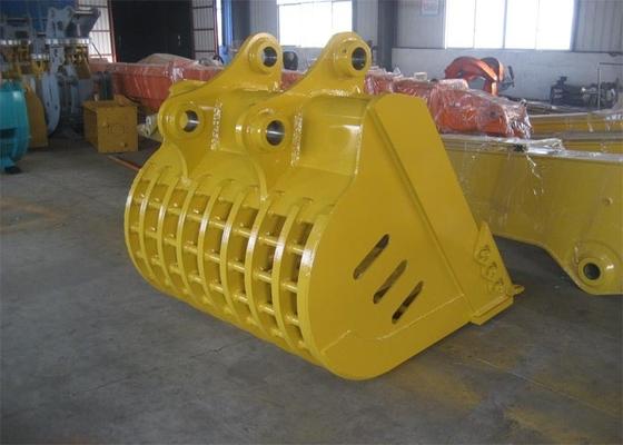 China Hyundai R360 Rock Excavator Ditching Bucket 1.7m3 Capacity Yellow distributor