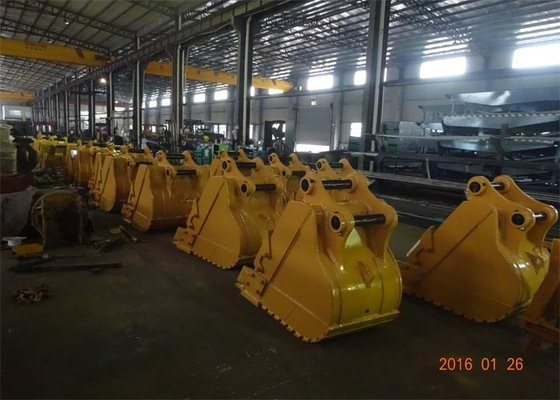 China Heavy Duty Rock Bucket CAT320 Excavator Rock Bucket 800mm Width distributor