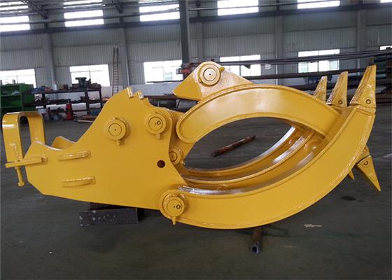 China CE Approved Mechanical Excavator Log Grapple for Komatsu PC120 Excavator distributor