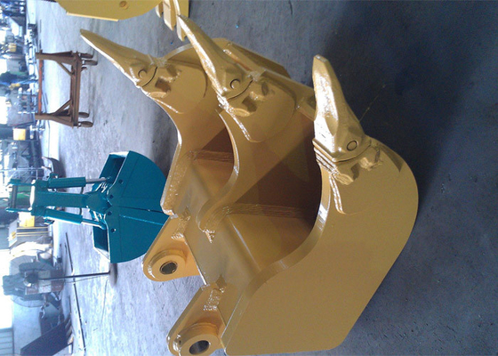China Heavy Duty Hyundai R305 Excavator Rake Bucket with Tiger Rock Teeth distributor