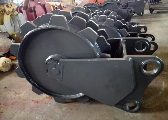 China 900mm Diameter Excavator Compaction Wheel For Excavator Machine distributor